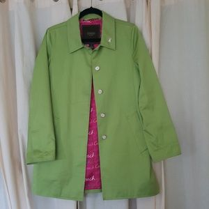Coach apple green spring coat, size S